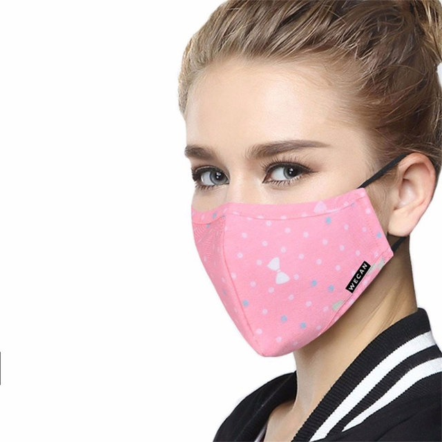 WECAN PM2.5 Protective Face Mask 5 layer mascaras Anti-Dust Flu Mouth Masks Respirator Activated Carbon filter Washable Masks 4