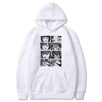 Junji Ito hoodies Japanese Anime Manga Japan Weeaboo Otaku Horror Hoodie Men Fleece Sweatshirt Hoody Streetwear Hoodies