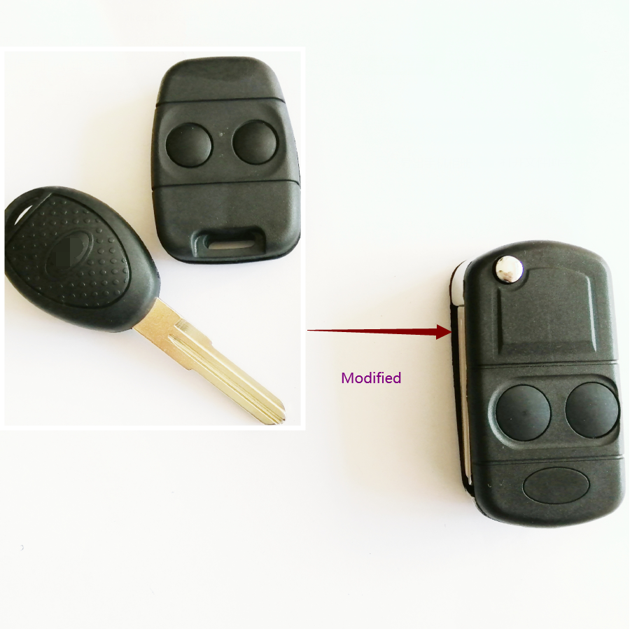 Automobile Locksmith 2 Button Remote Alarm Key Case Shell Housing for Rover MG Land Rover Defender Freelander key fob