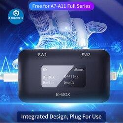 JC-B-BOX C3 DFU, caja con ventana, Cable DCSD para IOS, A7-A11, modo morado de una tecla para iPhone y iPad, cambiar NAND Syscfg, lectura de datos