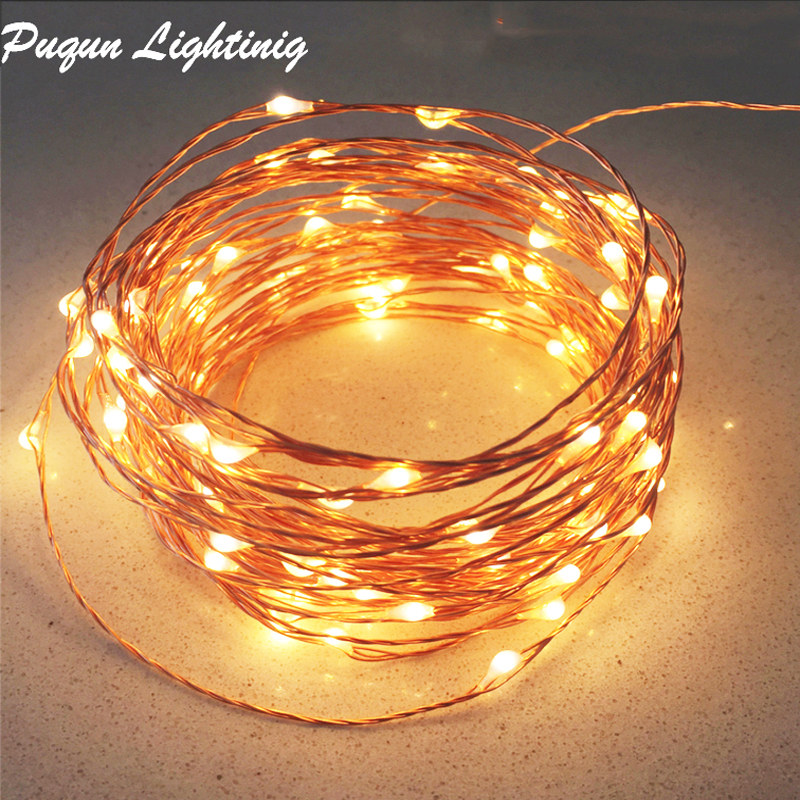 10M 20M 30M 50M Copper Led Fairy String Lights Outdoor Christmas Led Light Garland For Wedding Party Home Indoor Decoration