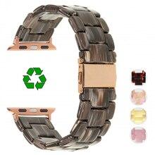 цена на Imitation Ceramic Strap Band for APPLE Watch 5/4/3/2/1 42mm/38mm Iwatch Bracelet Wrist Resin Belt Watch Accessories Watchband