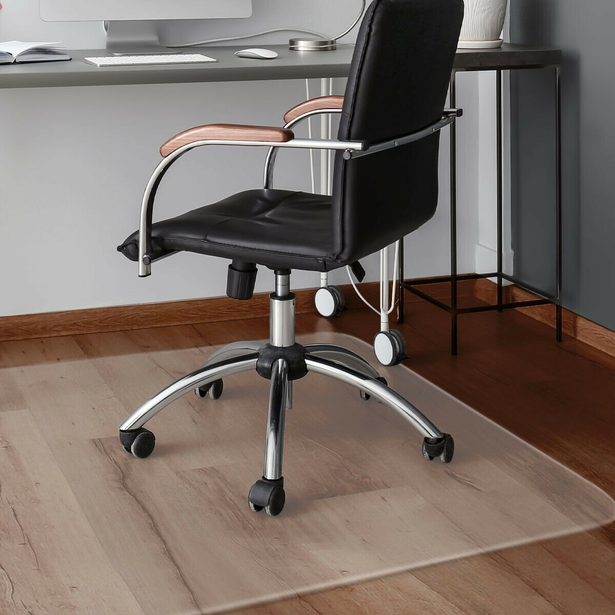 Costway 47'' X 59'' PVC Chair Floor Mat Home Office Protector For Hard Wood Floors