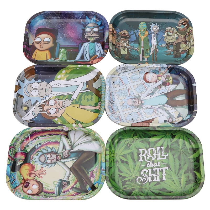 Metal Tin Rolling Tray 18cm*14cm Smoking Accessories Tobacco Rolling Papers Herb Grinder Small Tray Tobacco Storage Plate 1