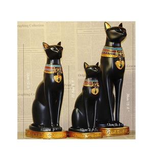 Image 5 - Sáng Tạo Chú Mèo Ai Cập Thần Đồ Trang Trí Nhựa Hàng Thủ Công Sách Tạm Gác Máy Tính Để Bàn Mèo Thu Nhỏ In Hình Hoa Lá Trang Trí Nhà Phụ Kiện Quà Tặng Sinh Nhật
