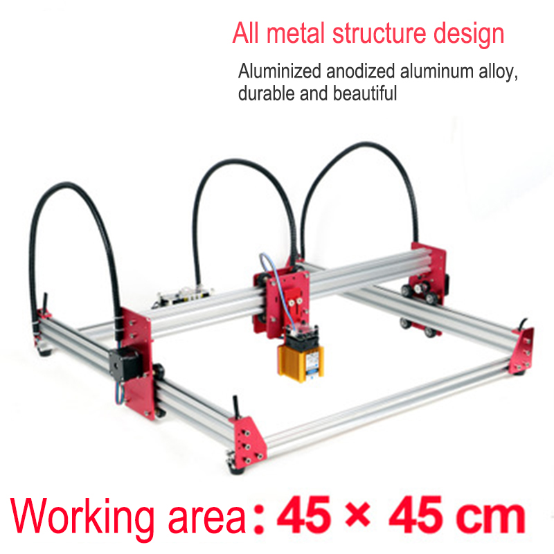 DIY laser engraving machine lettering painting marking machine 15W metal stainless steel leather wood cutting