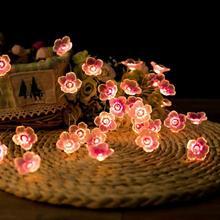 1pc choinka światełka taśmowe LED String szyszka igły drut miedziany lampki Ins Bells girlanda lampki z drutu Decor tanie tanio oobest Kwiatowy CN (pochodzenie) Other Suche baterii Support Wholesale Support Retail