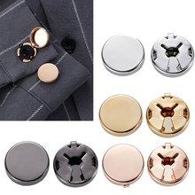 1 пара латунных круглых запонок для манжет Обложка запонки свадебной