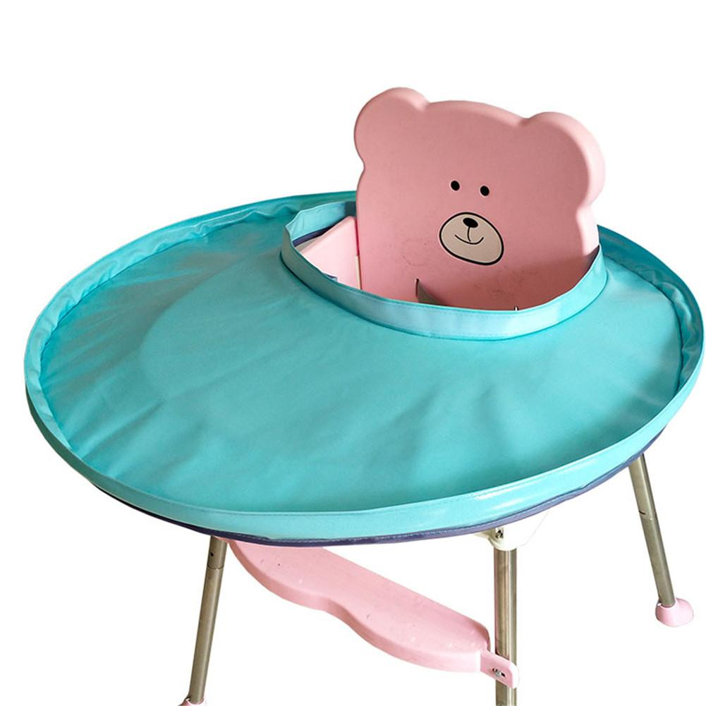 Children's Waterproof Anti-fouling Placemat Green Fabric Baby Dining Clean Storage Tray Solid Color Children Care Products