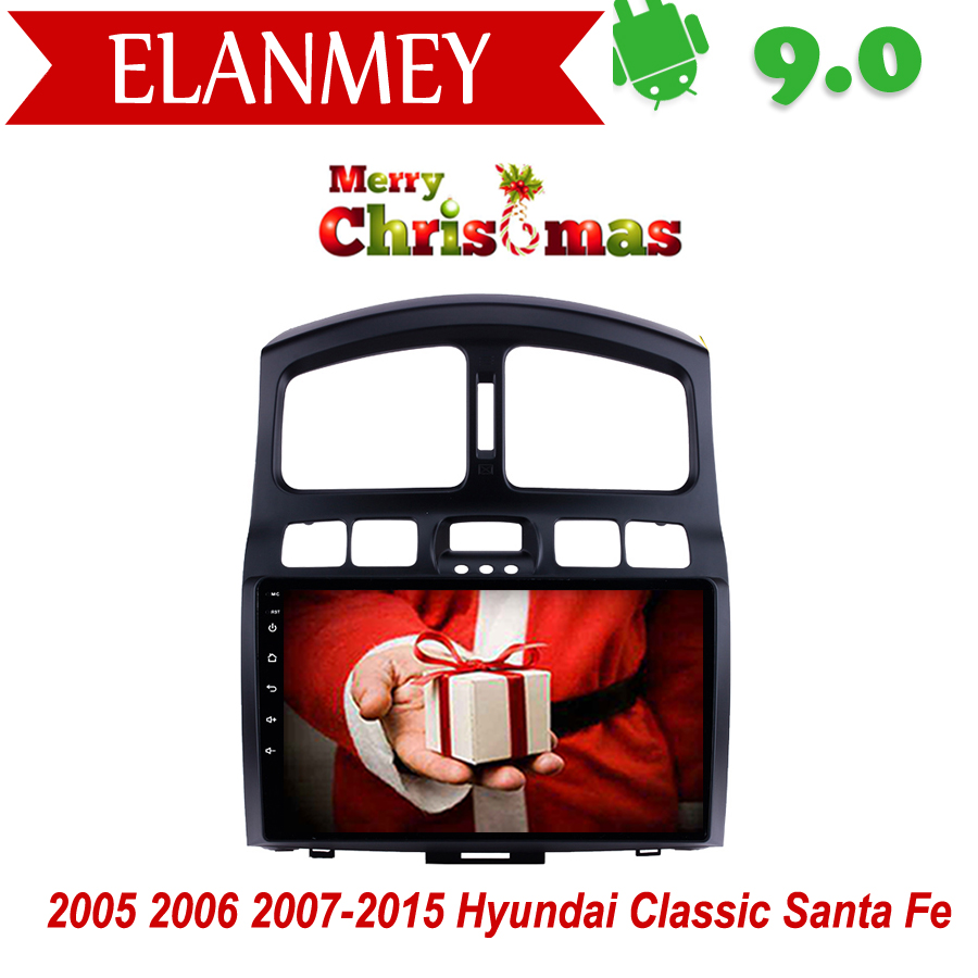 Branded Genuine Android 9.0 Car Radio for <font><b>Hyundai</b></font> <font><b>Santa</b></font> <font><b>Fe</b></font> car <font><b>gps</b></font> navigation Car Multimedia Vehicle recorder Christmas Gift image