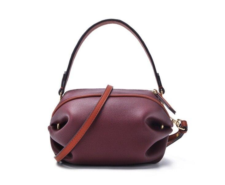 2019 nieuwe stijl split lederen vrouwen kleine handtas met lange riem crossbody tassen - 6