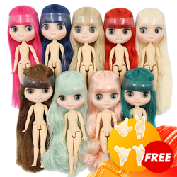 ICY DBS blyth middie doll 1/8 TOY matte face joint body short/long hair curly/straight hair special offer naked middie doll 20cm