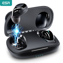 ESR bezprzewodowe słuchawki Bluetooth 5.0th redukcja szumów HIFI głos z mikrofonem 9hr żywotność baterii zestaw słuchawkowy słuchawki douszne