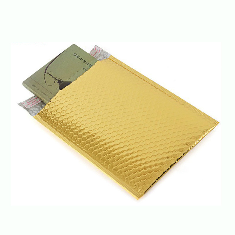 10pc Packaging Shipping Bubble Mailers Gold Paper Padded Envelopes Bag Bubble Mailing Envelope Bag Gift Wrapping Storage 15*13cm