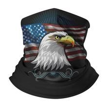 Волшебный Шарф Американский Флаг Орел Печать Оголовье Банданы Полиэстер Маска Ветрозащитный Грелки Шеи Платок, Браслет