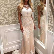 Sexy Tulle A-Line Prom Dress with Lace Applqiues Sweep Train Crystals Belt Backl