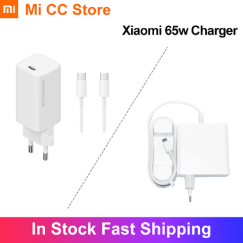 Original Xiaomi Charger 65W Type C Output Laptop Charger QC Adapter USB C Port 48% Smaller For Smart Phone Tablet Device