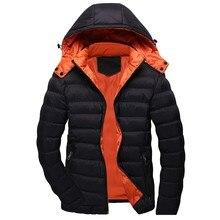 streetwear coat men Casual Winter Solid Warm Hooded Zipper Long Sleeve Jacket Co