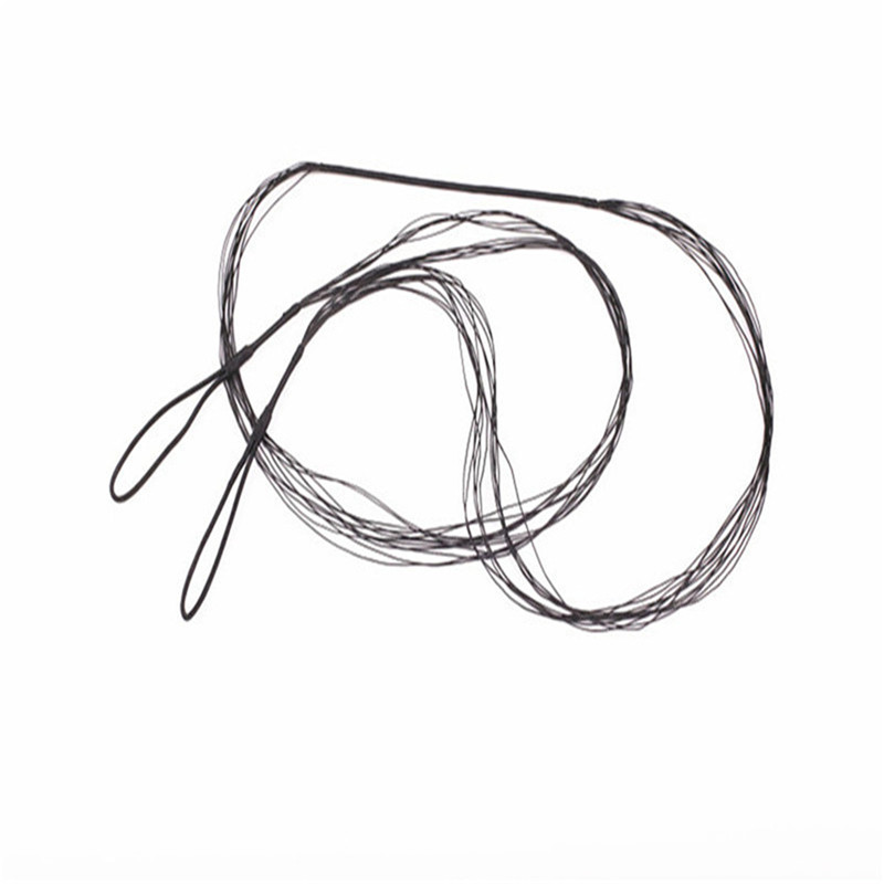 Replacement Black Bow String For Traditional Recurve Bow Longbow Hunting Shooting Accessories Length 111cm-173cm