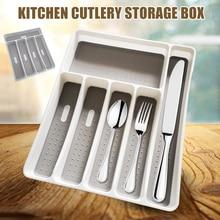 Кухонный ящик Органайзер лоток ложка коробка для столовых приборов портативный держатель для хранения@ LS