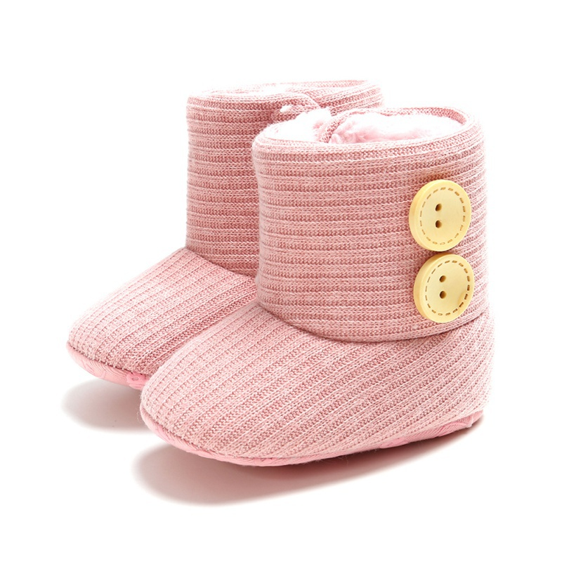 New Autumn 0-18M Cute Shoes Baby Girl Boy Cotton Knitting Boots Casual Shoes First Walkers Newborn Cute Non-slip Soft Sole Shoes
