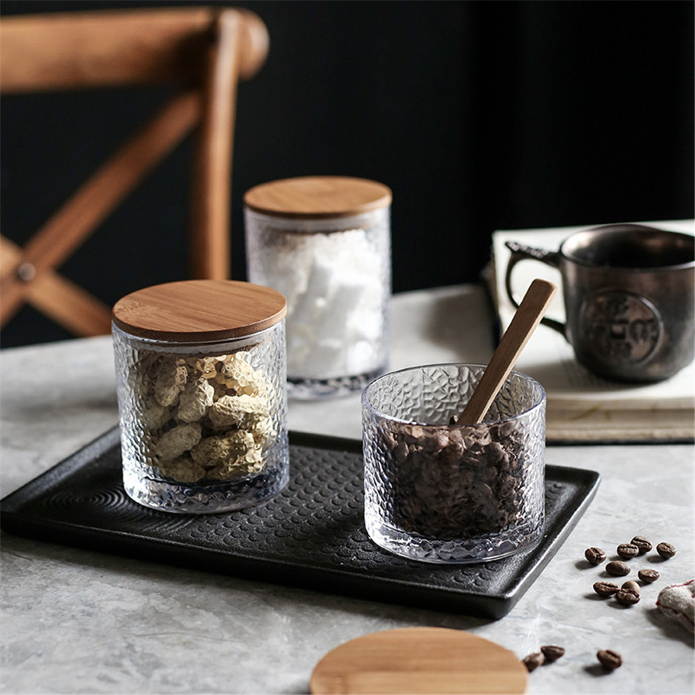Bamboo Lid Sealed Jars Nordic Kitchen Glass Storage Cans Chic
