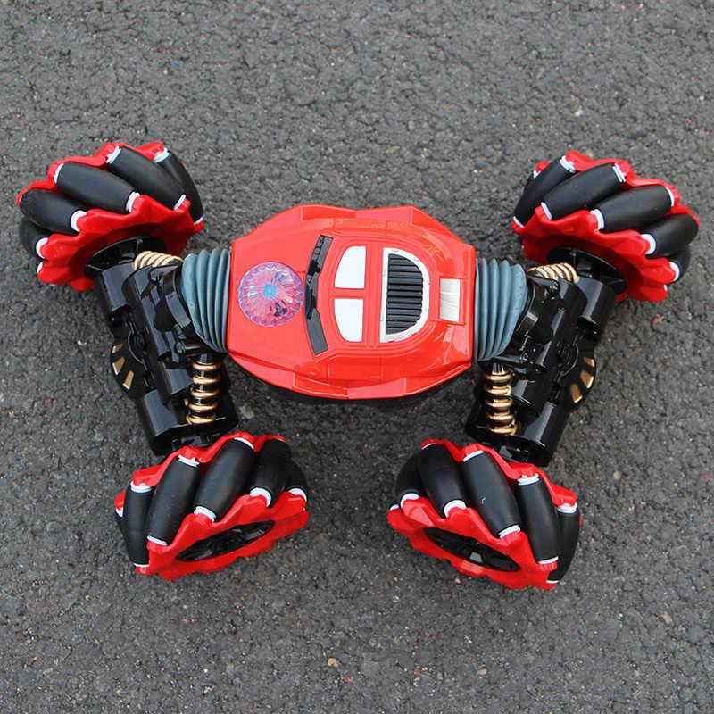 RC רכב 4WD שלט פעלולים רכב מחווה אינדוקציה פיתול רכב שטח אור מוסיקה להיסחף צעצוע במהירות גבוהה טיפוס RC רכב
