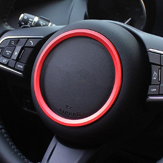 For Jaguar XE X760 XF X260 F-Pace X761 E-PACE F-TYPE Aluminum Alloy Car Steering Wheel Decoration Ring Sticker Logo Frame Trim 3