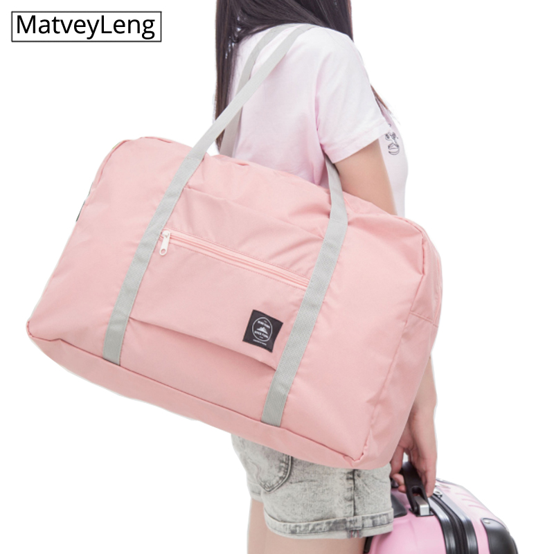 Waterproof Travel Bag Unisex Foldable Duffle Bag Organizers Large Capacity Packing Cubes Portable Luggage Bag Travel Accessories image