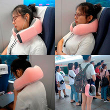 U образная дорожная подушка из пены с эффектом памяти для шеи