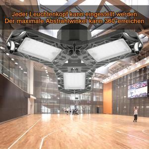 360 Degrees LED Garage Light Deformable Ceiling Light Indoor for Garage Workshop For Gas Station Canopy Workshop Football Field(China)