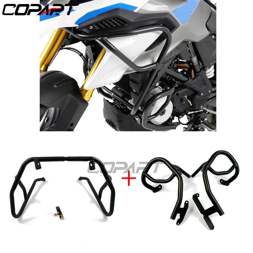 For <font><b>BMW</b></font> G310GS <font><b>G310R</b></font> G310 2017-2020 Motorcycle Upper Lower Engine Tank Guard Crash Bar Bumpers Stunt Cage Frame Protection image