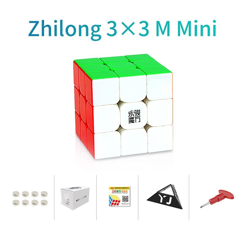 Original YJ Zhilong Mini 3x3 M 4x4 M 5x5 M Magnetic Speed Cubes Small Size YongJun Zhilong Magico Cube Puzzle Toys Magnetic Cube 17