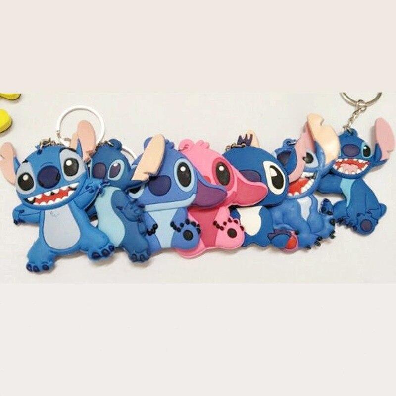 Lilo & Stitch Stitch PVC Soft Keychain Pendant Blue Stitch Promotion Gift Llavero Chaveiro Accessories