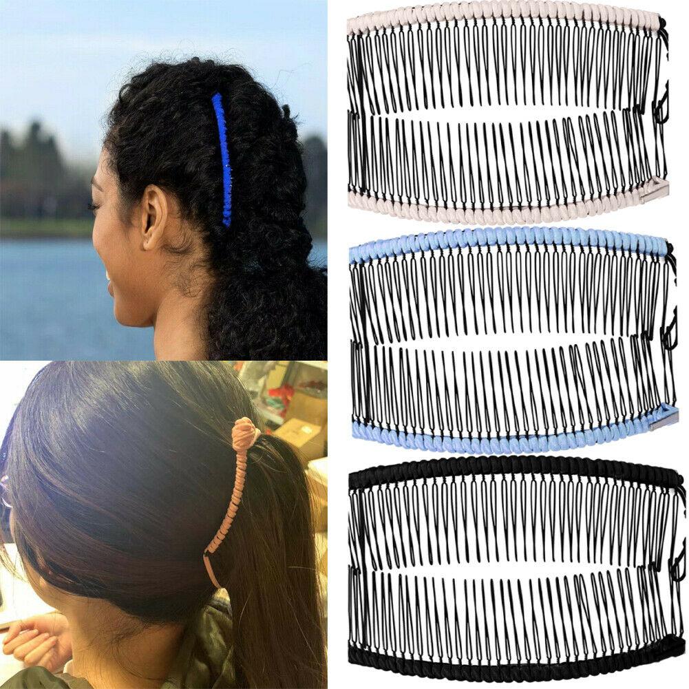 Hirigin Women Vintage Casual Vintage Hair Comb Hairpins Barrettes Solid 20-30 Teeth Comb Headwear Women Ladies Hairwear