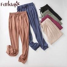Главная брюки Fdfklak горячая продажа Женская домашняя одежда брюки весна лето Новый модальные женщины пижамы брюки гостиная сна одежда