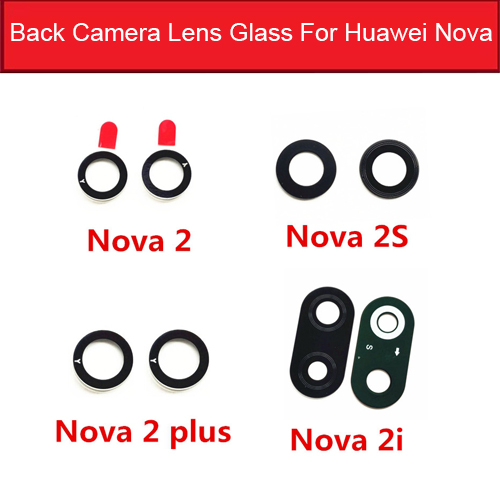 Rear Camera Glass Lens For Huawei Nova 2 2i 2s Plus Back Camera Glass Lens Cover With Adhesive Replacement Repair Parts