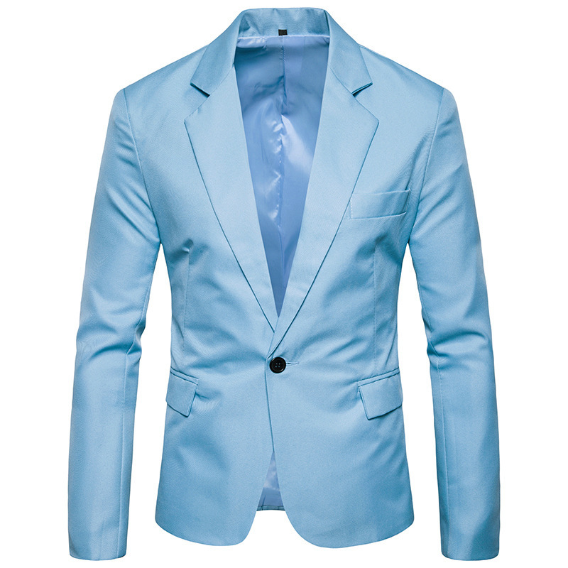 New Casual Mens Suit Solid One Button Men Red Blazer Outdoors Slim Fit Jacket Man Long Sleeve 8 Candy Color Suits Plus Size G463