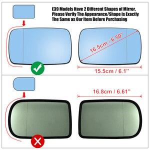 Image 5 - X Autohaux 1 Pair Side Mirror Glass with Backing Plate Heated for BMW E39 E46 320i 330i 325i 525i