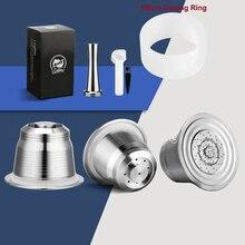 ICafilas para Nespresso Cápsula de café rellenable, filtros de café expreso de acero inoxidable y Tamper al por mayor