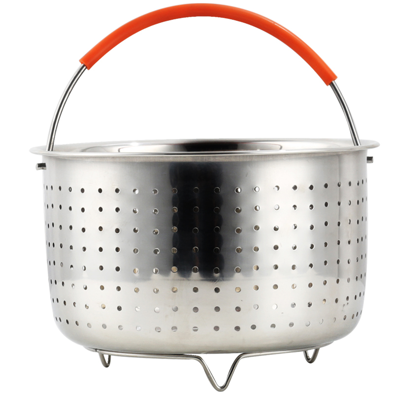 Stainless Steel Air Fryer Accessories Dishwasher Safe Nonstick Sturdy Steamer Basket Coating Pressure Cooker Tools