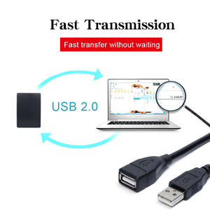 Image 4 - USB 2.0 Cable Extender Cord Wire Data Transmission Cables Super Speed Data Extension cable For Monitor Projector Mouse Keyboard