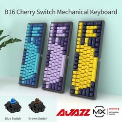 Клавиатура Ajazz B16 механическая, 96 клавиш, USB, черный/синий/красный/коричневый