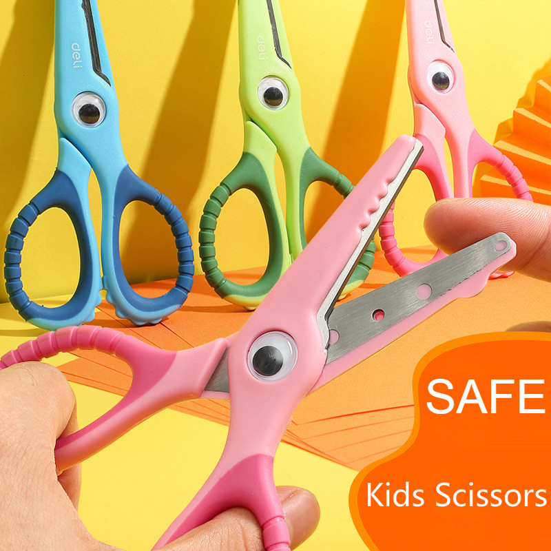 3PCS/LOT Plastic Kids Scissors Children Flower Cutting Mini Safe Paper Scissor Folding Craft Scissor For School Supplies