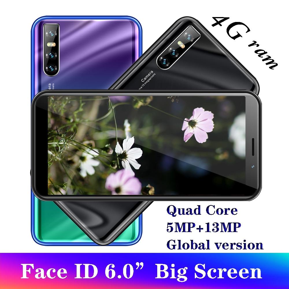 A50 глобальная версия смартфонов, 4 Гб ОЗУ 64 Гб ПЗУ, 6,0 дюйма, идентификация лица, разблокированные мобильные телефоны Android, дешевые сотовые тел...