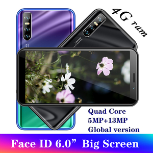 A50 Global version smartphones 4G RAM 64G ROM 6.0inch Face ID unlocked Android Mobile phones Cheap celulares 13MP wifi Quad Core