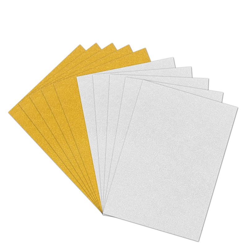 10pcs A4 Sheets Gold Glitter Cardstock Card Making DIY Material Sparkling Craftwork Scrapbooking Gift Wrapping Box Tissue Paper Sheets for Wrapping