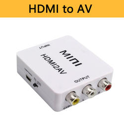 HDMI К AV адаптер HD видео конвертер адаптер мини коробка HDMI к RCA AV/CVSB L/R видео 1080P HDMI2AV Поддержка NTSC PAL