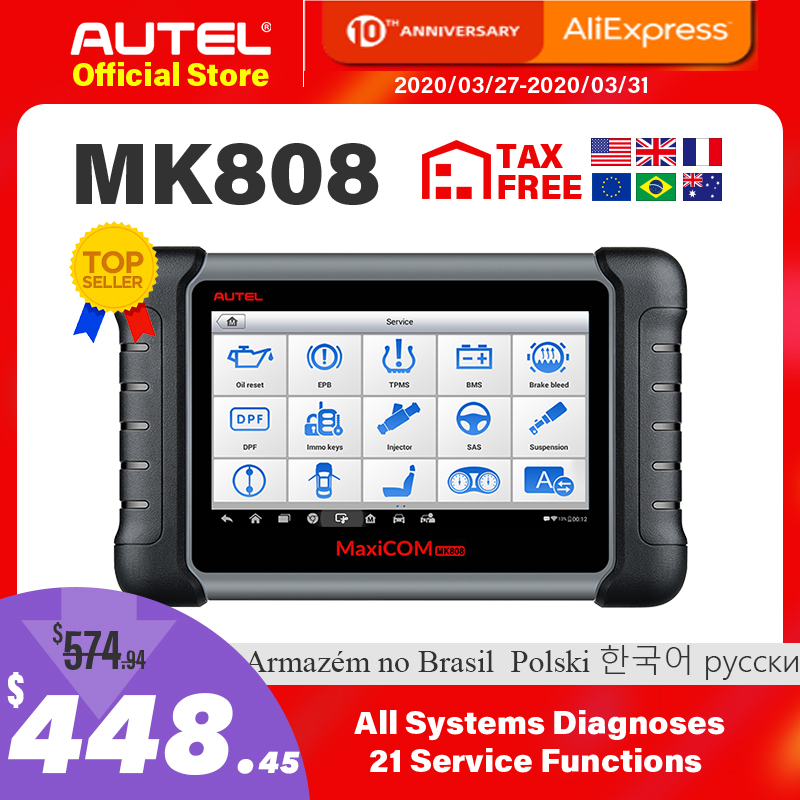 US $454.24 21% OFF|Best Autel MaxiCOM MK808 OBD2 Scanner Automotivo Car Diagnostic Tool OBD 2 EScaner TPMS Code Reader OBDII Key Coding AP200 MP808|diagnostic tool autel|autel diagnostic|diagnosis tools - AliExpress