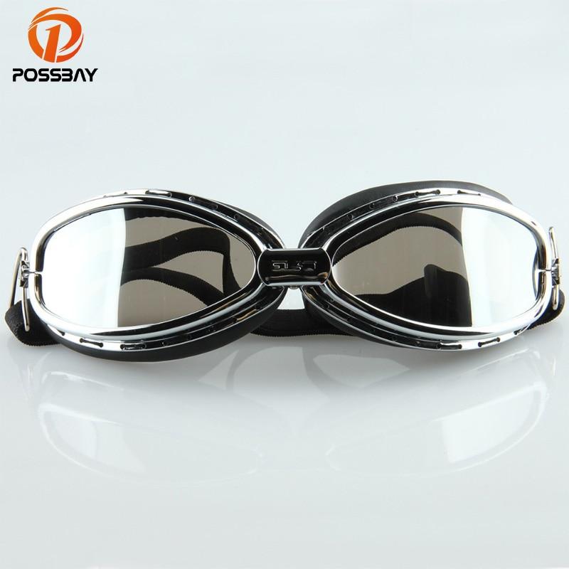 POSSBAY Pilot Cruiser Motorcycle Glasses Bike Riding Goggles Eyewear Protect Glasses Lens UV-Protection Cafe Racer